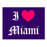 Amo Miami Tarjetas Postales