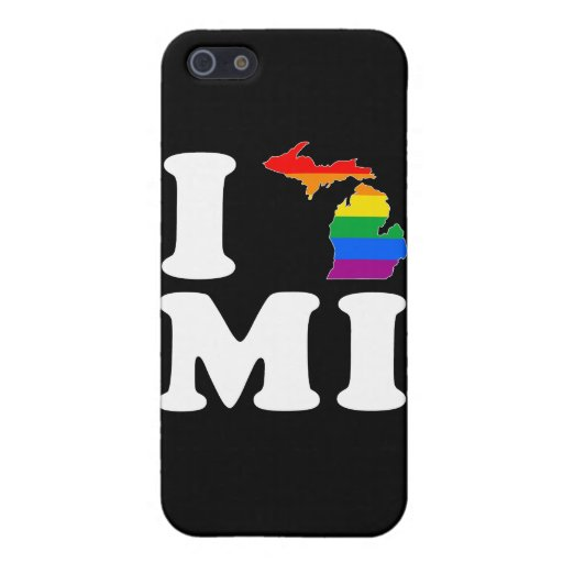 AMO MICHIGAN GAY - BLANCO - .PNG iPhone 5 CARCASA