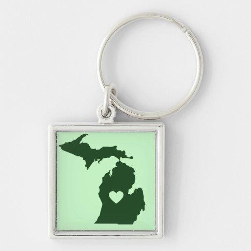 Amo Michigan Llaveros Personalizados