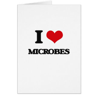 Amo microbios tarjeta de felicitación