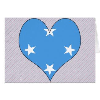 Amo Micronesia Tarjeta De Felicitación
