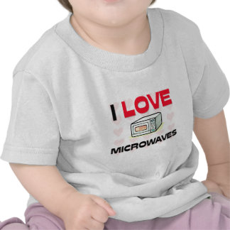 Amo microondas camisetas