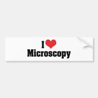 Amo microscopia del corazón pegatina para auto