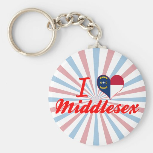 Amo Middlesex, Carolina del Norte Llavero Redondo Tipo Pin