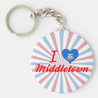 Amo Middletown Connecticut Llaveros