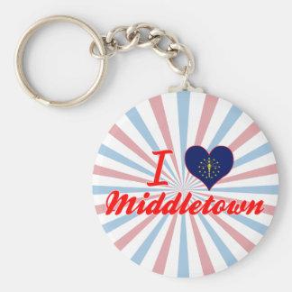 Amo Middletown Indiana Llaveros Personalizados