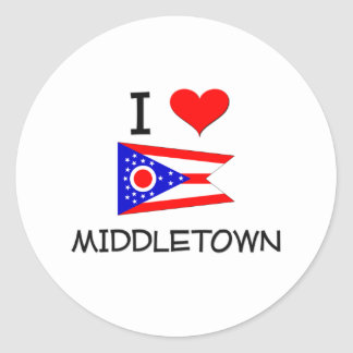 Amo Middletown Ohio Pegatina Redonda