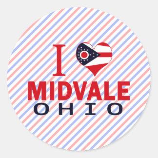 Amo Midvale Ohio Pegatina Redonda