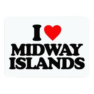 """AMO MIDWAY ISLANDS INVITACIÓN 5"""" X 7"""""""