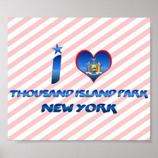 Amo mil parques de la isla Nueva York Poster