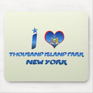Amo mil parques de la isla, Nueva York Tapetes De Raton