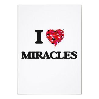 """Amo milagros invitación 5"""" x 7"""""""