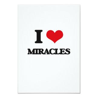 """Amo milagros invitación 3.5"""" x 5"""""""
