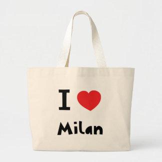 Amo Milano Bolsas Lienzo