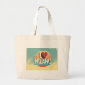 Amo Milano Bolsa Tela Grande