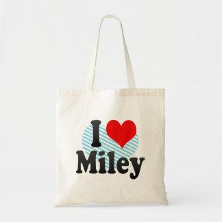 Amo Miley Bolsas Lienzo