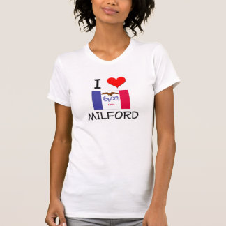 Amo MILFORD Iowa Camiseta