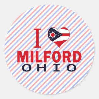 Amo Milford Ohio Pegatina