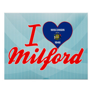 Amo Milford Wisconsin Poster