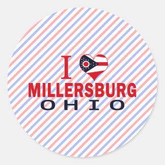 Amo Millersburg, Ohio Pegatina Redonda