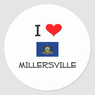 Amo Millersville Pennsylvania Pegatina Redonda