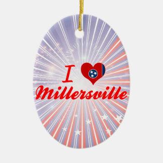 Amo Millersville, Tennessee Adorno Navideño Ovalado De Cerámica