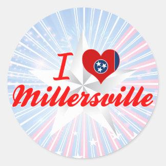 Amo Millersville, Tennessee Pegatina Redonda
