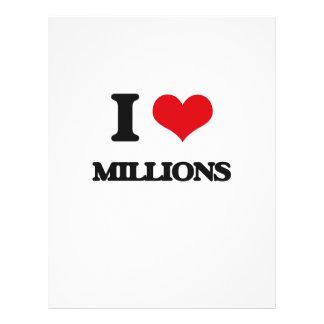 Amo millones tarjeta publicitaria