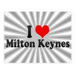 Amo Milton Keynes, Reino Unido Tarjetas Postales