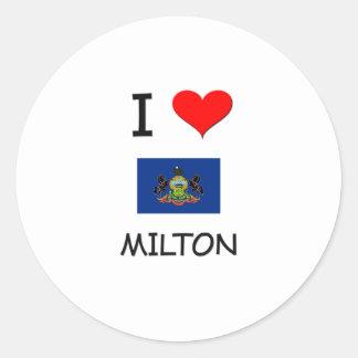 Amo Milton Pennsylvania Pegatina Redonda