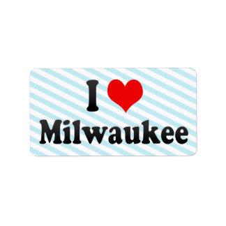 Amo Milwaukee, Estados Unidos Etiqueta De Dirección