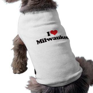 Amo Milwaukee Playera Sin Mangas Para Perro
