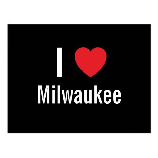Amo Milwaukee Tarjeta Postal