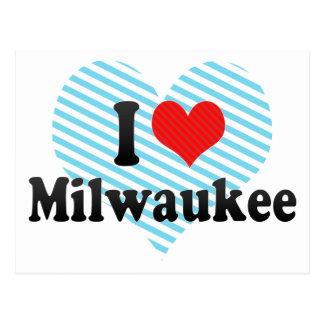 Amo Milwaukee Tarjetas Postales