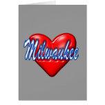 Amo Milwaukee Wisconsin Felicitación