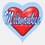 Amo Milwaukee Wisconsin Calcomania Corazon Personalizadas