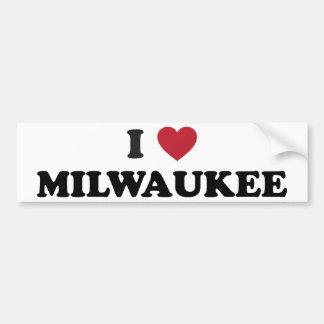 Amo Milwaukee Wisconsin Pegatina Para Auto