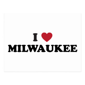 Amo Milwaukee Wisconsin Tarjeta Postal
