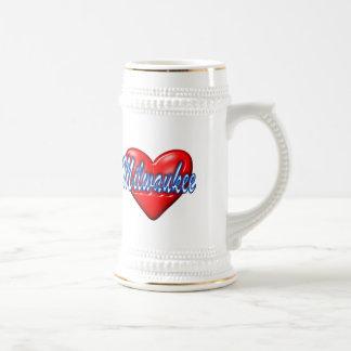 Amo Milwaukee Wisconsin Jarra De Cerveza