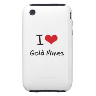 Amo minas de oro tough iPhone 3 coberturas