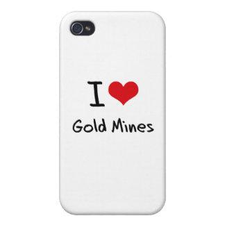 Amo minas de oro iPhone 4 cárcasas
