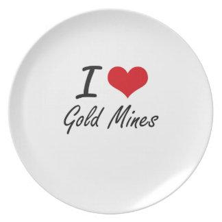 Amo minas de oro plato de cena