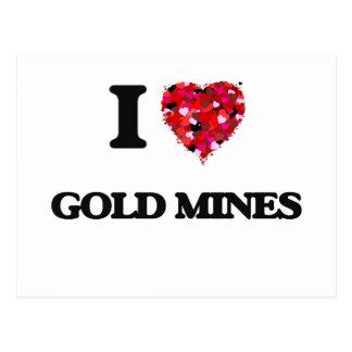 Amo minas de oro tarjetas postales