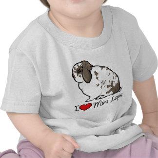 Amo mini conejos del Lop Camisetas