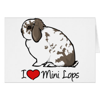 Amo mini conejos del Lop Tarjetón