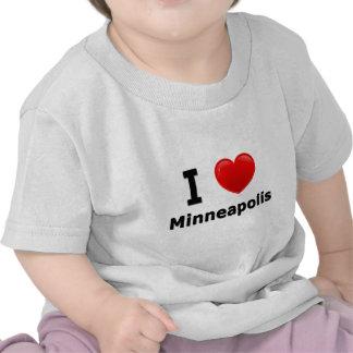 Amo Minneapolis Camisetas