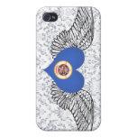 Amo Minnesota - alas iPhone 4/4S Carcasa