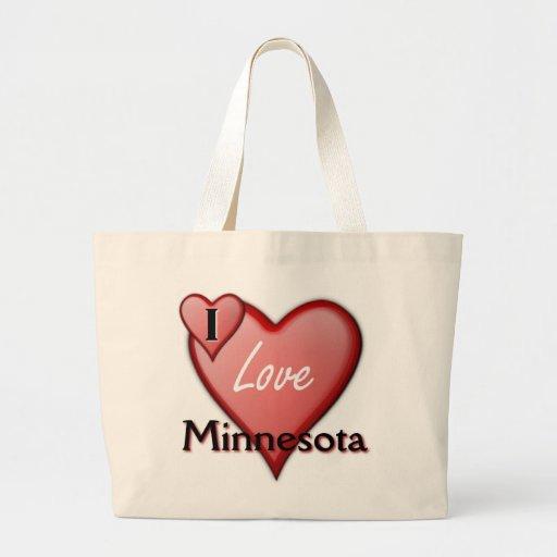 Amo Minnesota Bolsa Tela Grande