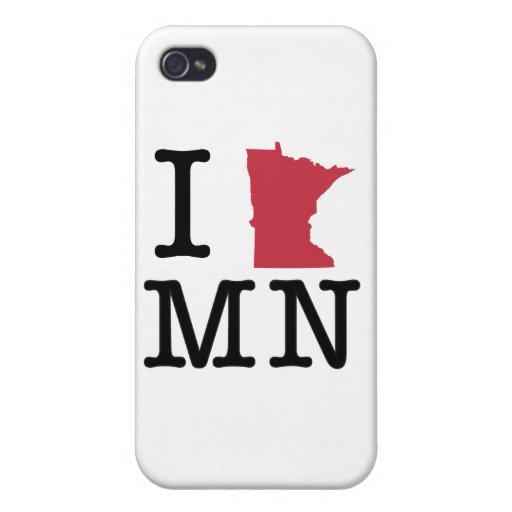 Amo Minnesota iPhone 4/4S Carcasas