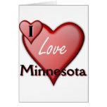 Amo Minnesota Tarjeta